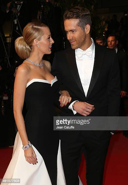 Ryan Reynolds and his wife Blake Lively attend 'The Captive' premiere during the 67th Annual Cannes Film Festival on May 16 2014 in Cannes France