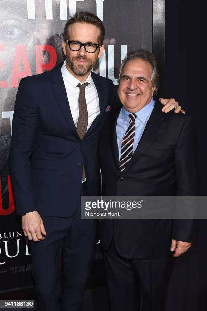 Ryan Reynolds and Paramount Pictures Chairman and CEO Jim Gianopulos attend the Paramount Pictures New York Premiere of 'A Quiet Place' at AMC...