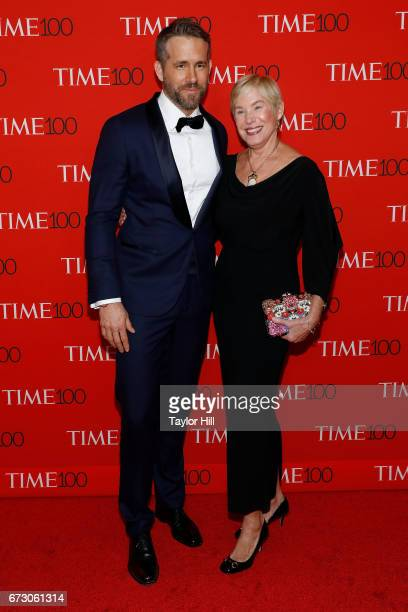 Ryan Reynolds and Tammy Reynolds attend the 2017 Time 100 Gala at Jazz at Lincoln Center on April 25, 2017 in New York City.