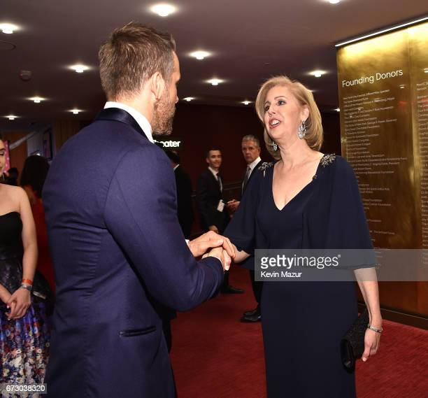 Ryan Reynolds and TIME managing editor Nancy Gibbs attends 2017 Time 100 Gala at Jazz at Lincoln Center on April 25, 2017 in New York City.