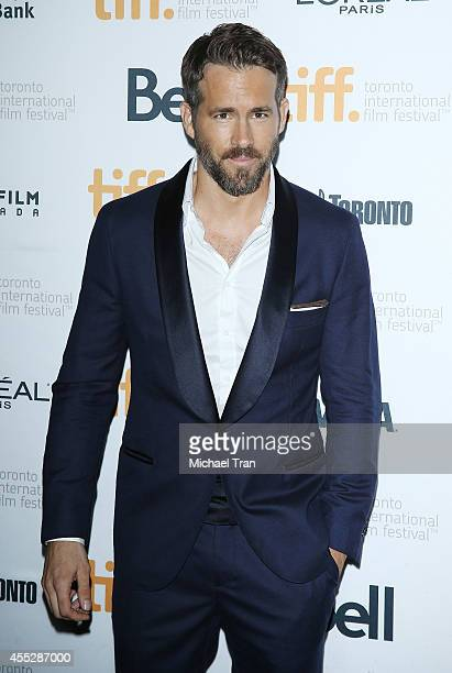 Ryan Reynolds arrives at the premiere of The Voices held during the 2014 Toronto International Film Festival - Day 8 on September 11, 2014 in...