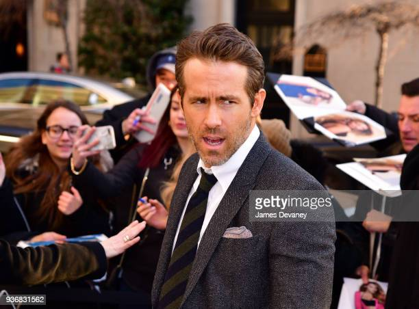 Ryan Reynolds arrives to the 'Final Portrait' New York screening at Guggenheim Museum on March 22, 2018 in New York City.