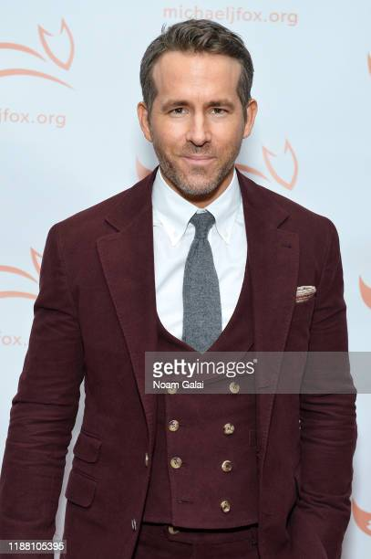 Ryan Reynolds attends A Funny Thing Happened On The Way To Cure Parkinson's benefitting The Michael J. Fox Foundation on November 16, 2019 in New...