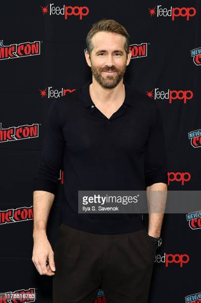 """Ryan Reynolds attends New York Comic Con in support of """"Free Guy"""" at The Jacob K. Javits Convention Center on October 03, 2019 in New York City."""
