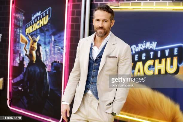 Ryan Reynolds attends Pokemon Detective Pikachu US Premiere at Times Square on May 02 2019 in New York City