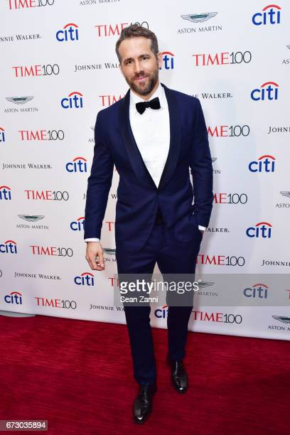 Ryan Reynolds attends the 2017 TIME 100 Gala at Jazz at Lincoln Center on April 25 2017 in New York City