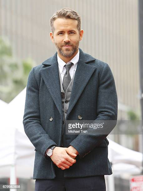 Ryan Reynolds attends the ceremony honoring him with a Star on The Hollywood Walk of Fame held on December 15 2016 in Hollywood California