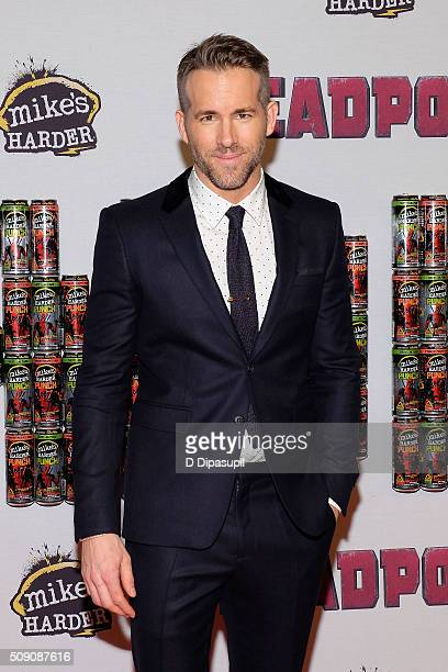 Ryan Reynolds attends the 'Deadpool' fan event at AMC Empire Theatre on February 8 2016 in New York City