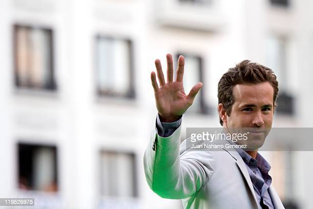 Ryan Reynolds attends the Green Lantern premiere at Callao Cinema on July 21 2011 in Madrid Spain