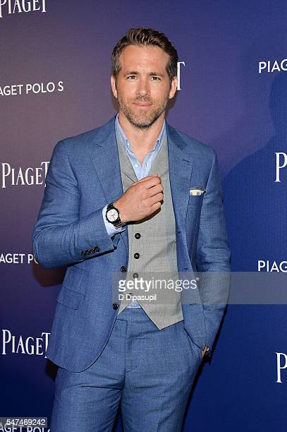 Ryan Reynolds attends the Piaget new timepiece launch at the Duggal Greenhouse on July 14 2016 in New York City