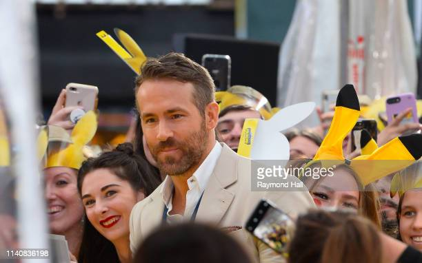 Ryan Reynolds attends the 'Pokemon Detective Pikachu' US Premiere at Times Square on May 2 2019 in New York City