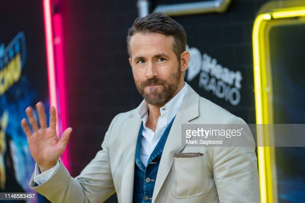 Ryan Reynolds attends the Pokemon Detective Pikachu US Premiere at Times Square on May 02 2019 in New York City
