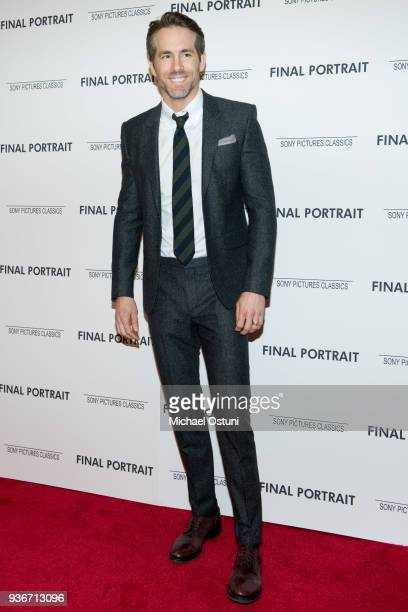 Ryan Reynolds attends the screening of Final Portrait at Guggenheim Museum on March 22, 2018 in New York City.