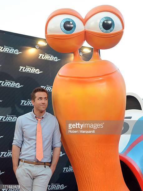 Ryan Reynolds attends the 'Turbo' premiere at the Centre de Convencions Internacional de Barcelona on June 25, 2013 in Barcelona, Spain.