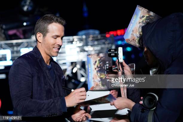 Ryan Reynolds attends the world premiere of Netflix's '6 Underground' at Dongdaemun Design Plaza on December 02 2019 in Seoul South Korea