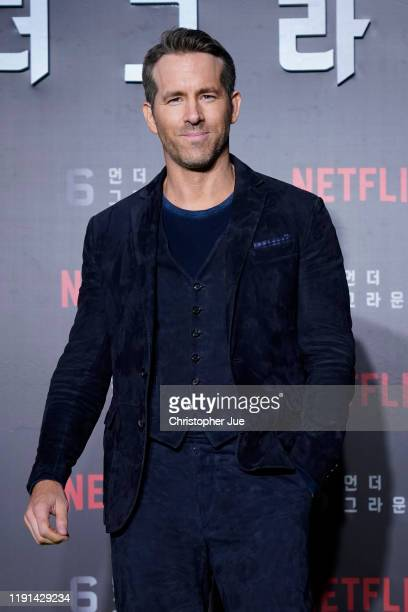 Ryan Reynolds attends the world premiere of Netflix's '6 Underground' at Dongdaemun Design Plaza on December 02, 2019 in Seoul, South Korea.