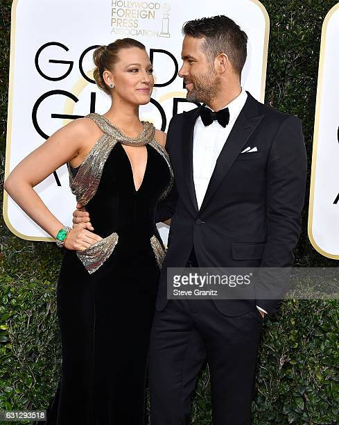Ryan Reynolds Blake Lively arrives at the 74th Annual Golden Globe Awards at The Beverly Hilton Hotel on January 8 2017 in Beverly Hills California