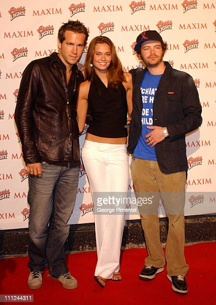 Ryan Reynolds Bobette Riales and Danny Masterson during Maxim Magazine and Coors Light Present Tale Spin at the Much Music Video Awards at This is...