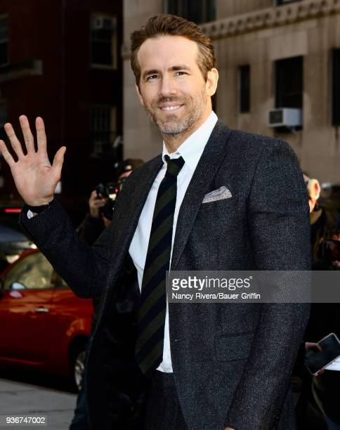 Ryan Reynolds is seen on March 22 2018 in New York City