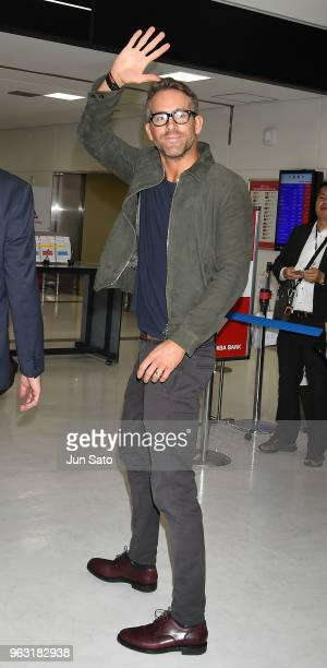 Ryan Reynolds is seen upon arrival at Narita International Airport on May 28 2018 in Narita Japan