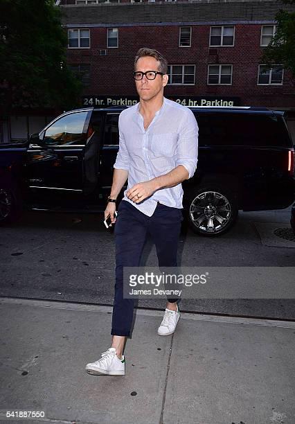 Ryan Reynolds seen on the streets of Manhattan on June 20 2016 in New York City