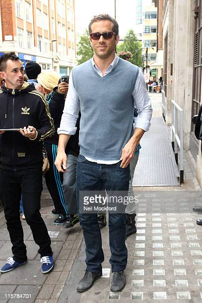 Ryan Reynolds sighted at BBC Radio One on June 10 2011 in London England
