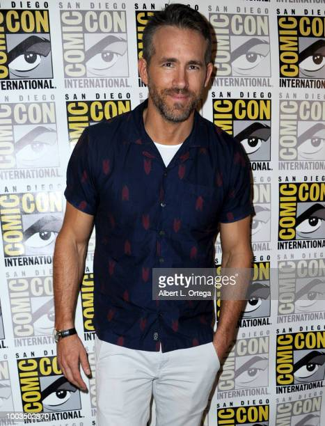 Ryan Reynolds speaks onstage at the Deadpool 2 panel during ComicCon International 2018 at San Diego Convention Center on July 21 2018 in San Diego...