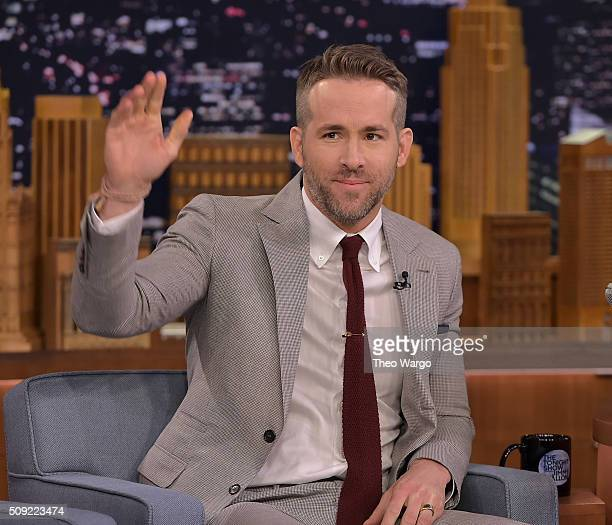 """Ryan Reynolds Visits """"The Tonight Show Starring Jimmy Fallon"""" at NBC Studios on February 9, 2016 in New York City."""
