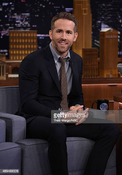 Ryan Reynolds Visits 'The Tonight Show Starring Jimmy Fallon' at Rockefeller Center on September 21 2015 in New York City