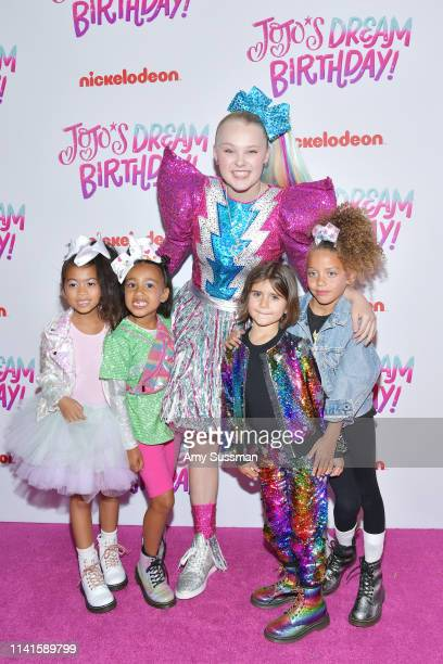 Ryan Romulus North West JoJo Siwa Penelope Disick and guest attend her Sweet 16 Birthday celebration at W Hollywood on April 09 2019 in Hollywood...