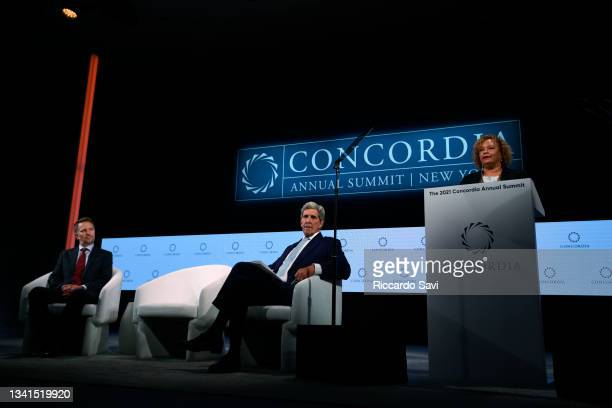 Ryan Roslansky, CEO, LinkedIn, John Kerry, Special Presidential Envoy for Climate, United States of America and Lisa Jackson, Vice President,...