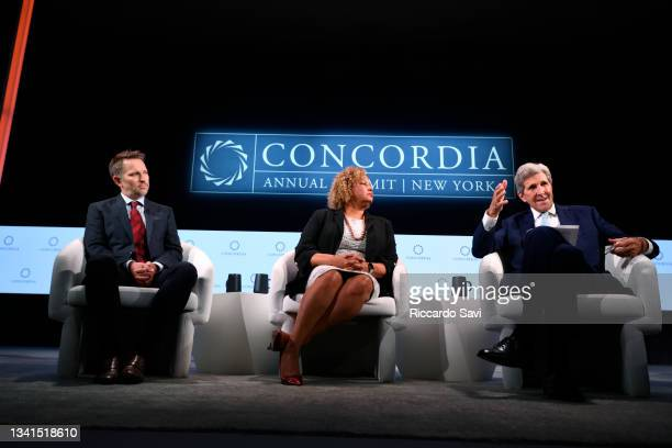 Ryan Roslansky, CEO, LinkedIn, Lisa Jackson, Vice President, Environment, Policy and Social Initiatives, Apple and John Kerry, Special Presidential...