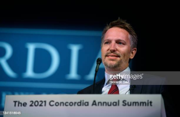 Ryan Roslansky, CEO, LinkedIn speaks onstage during the 2021 Concordia Annual Summit - Day 1 at Sheraton New York on September 20, 2021 in New York...