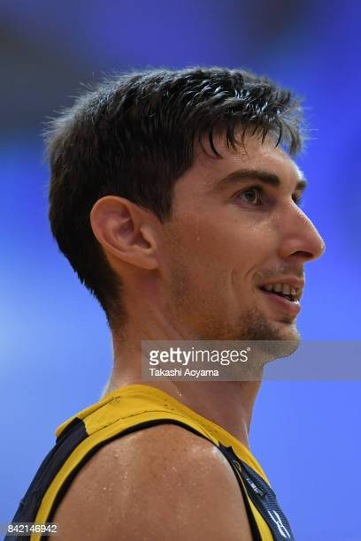 Ryan Rossiter of the Tochigi Brex reacts during the BLeague Kanto Early Cup 3rd place match between Kawasaki Brave Thunders and Tochigi Brex at...