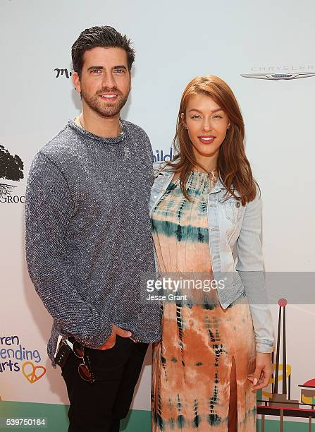 Ryan Rottman and Jessica Vargas attend the Children Mending Hearts and Vintage Grocers Presents the 8th Annual Empathy Rocks event on June 12 2016 in...