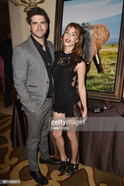 Ryan Rottman and Jessica Vargas attend the Elephant Action League Los Angeles Benefit Auction at The Montage on June 1 2017 in Beverly Hills...
