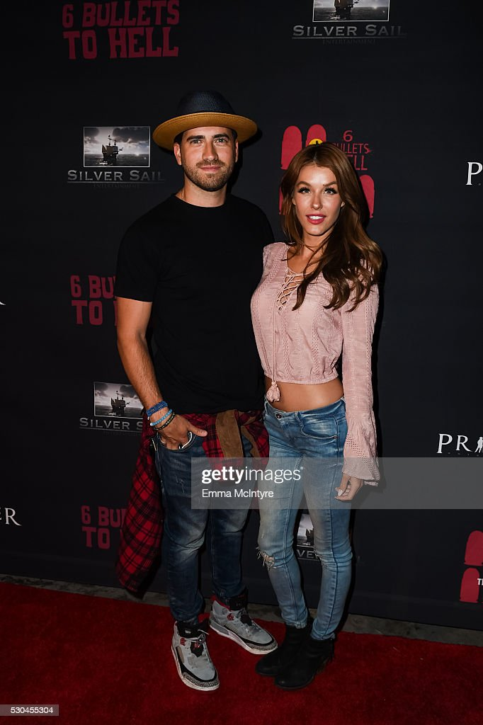 Ryan Rottman and Jessica Vargas attend the launch of '6 Bullets To Hell' on May 10, 2016 in Los Angeles, California.
