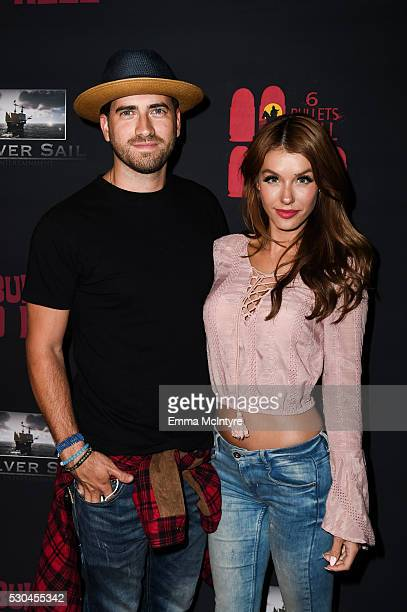 Ryan Rottman and Jessica Vargas attend the launch of '6 Bullets To Hell' on May 10 2016 in Los Angeles California