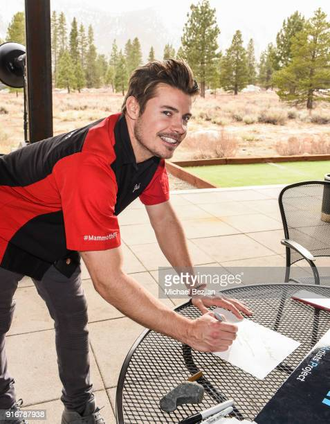 Ryan Rottman signs certificate for The Artists Project at The Inaugural Mammoth Film Festival on February 10 2018 in Mammoth Lakes California