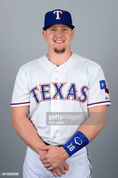 Ryan Rua of the Texas Rangers poses during Photo Day on Wednesday February 22 2017 at Surprise Stadium in Surprise Arizona