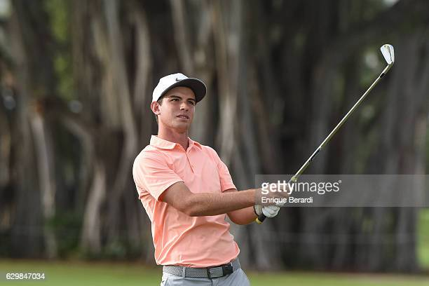 Ryan Ruffels of Australia hits from the 18th hole during the final round of the PGA TOUR Latinoamerica Shell Championship at International Links...