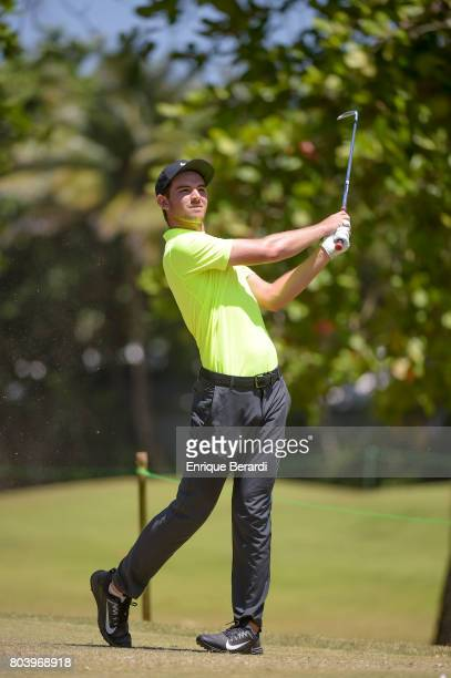 Ryan Ruffels of Australia hits his tee shot on the seventh hole during the second round of the PGA TOUR Latinoamerica Puerto Plata DR Open at Playa...