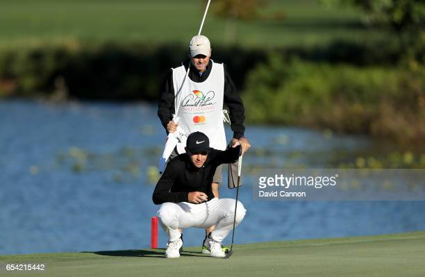 Ryan Ruffels of Australia lines up a putt at the par 5 sixth hole during the first round of the 2017 Arnold Palmer Invitational presented by...