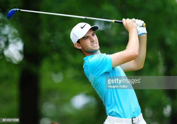 Ryan Ruffels of Australia plays his shot from the 11th tee during the third round of the RBC Canadian Open at Glen Abbey Golf Club on July 29 2017 in...