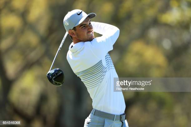 Ryan Ruffels of Australia plays his shot from the 12th tee during the second round of the Arnold Palmer Invitational Presented By MasterCard at Bay...