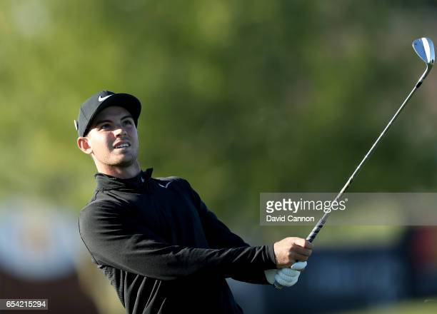 Ryan Ruffels of Australia plays his third shot at the par 5 sixth hole during the first round of the 2017 Arnold Palmer Invitational presented by...