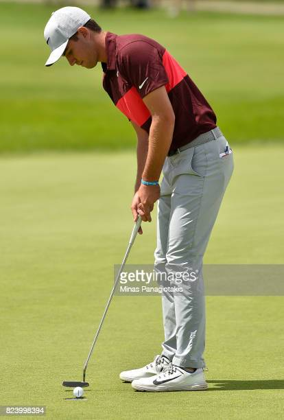 Ryan Ruffels of Australia putts on the 18th hole during the second round of the RBC Canadian Open at Glen Abbey Golf Club on July 28 2017 in Oakville...