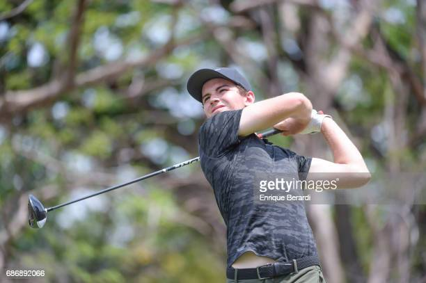 Ryan Ruffels of Australia tees off on the 12th hole during the weather shortened third and final round of the PGA TOUR Latinoamerica Essential Costa...