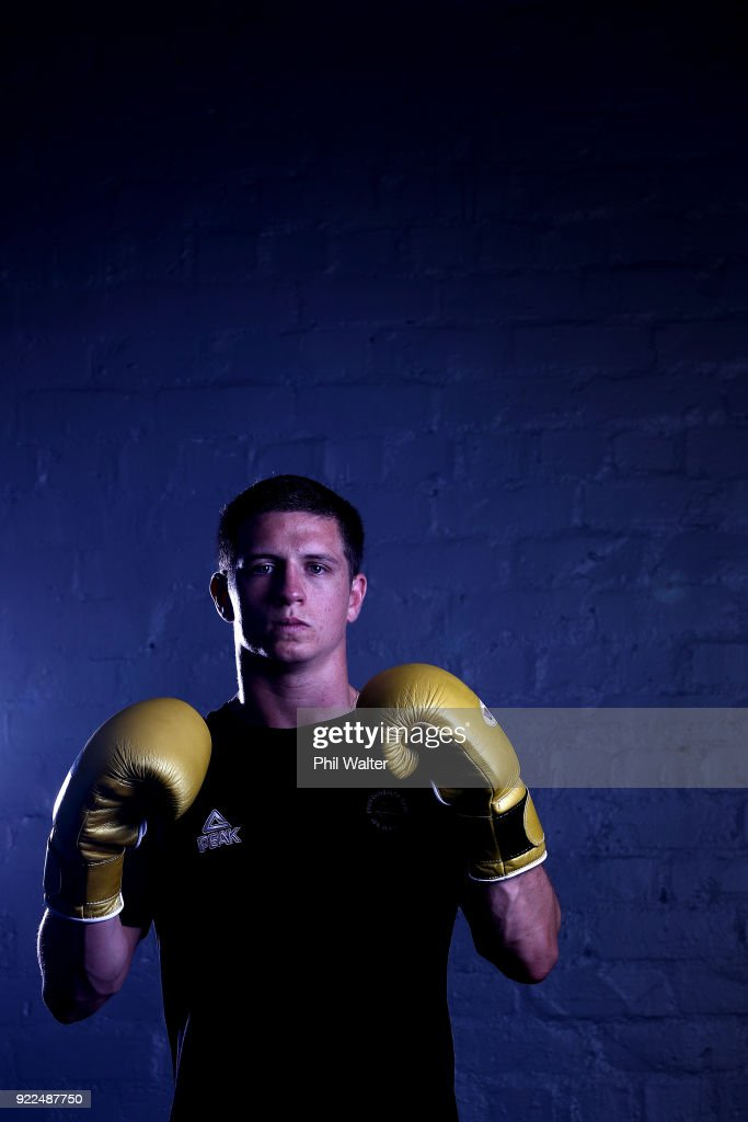 Ryan Scaife poses for a portrait during the New Zealand Commonwealth Games Boxing Team Announcement at Wreck Room on February 22, 2018 in Auckland, New Zealand.