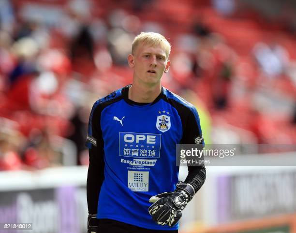 Ryan Schofield of Huddersfield Town during the pre season friendly between Barnsley and Huddersfield Town at Oakwell Stadium on July 22 2017 in...
